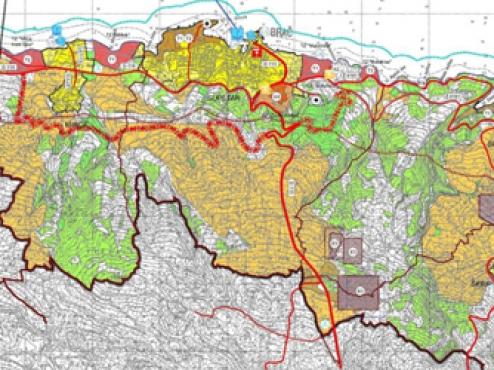 Ilustrativni prikaz prostornog plana grada Supetra