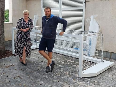 Gradonačelnica i Luka Vulić uz nove vaterpolo branke