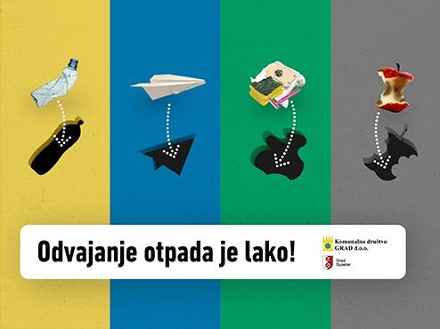 Ilustrativni plakat sakupljanja otpada