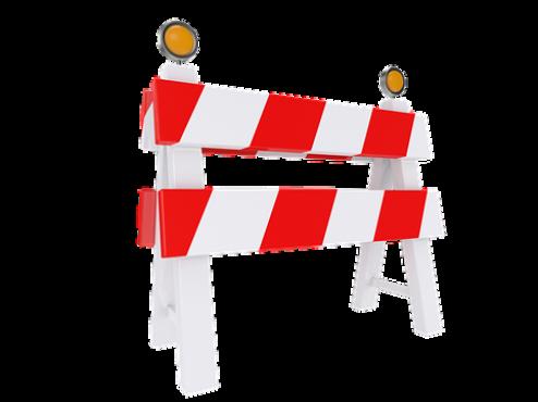 Ilustracija cestovne prepreke zbog radova na cesti
