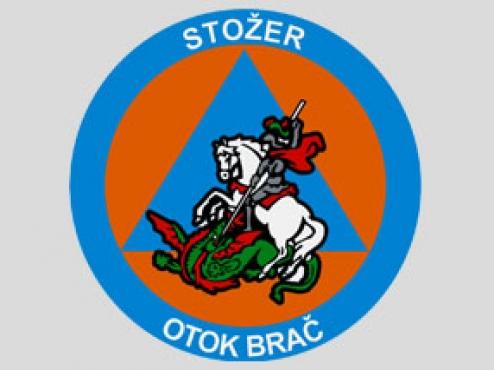 Ilustracija grba kriznog stožera otoka Brača